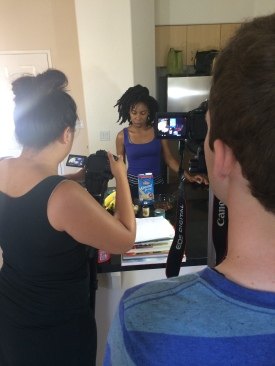 Behind the scenes of Fifi's video!